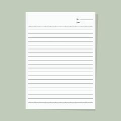 Note paper - Vector