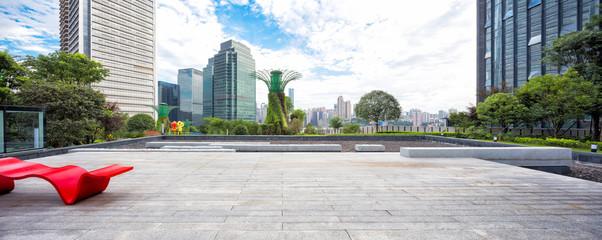 Fototapeta modern office buildings in chongqing
