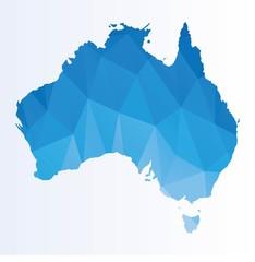 Polygonal map of Australia