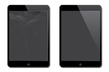 Vector broken and new tablets.