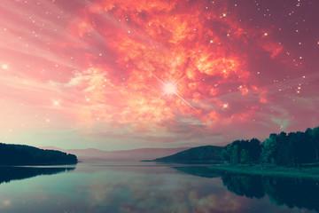 Photo sur Plexiglas Corail alien landscape