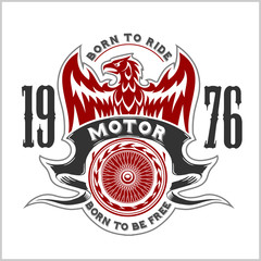 American Eagle Motorcycle Club Emblem.