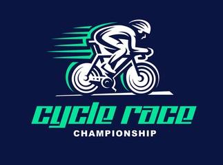 Cycling race Vector logo illustration.