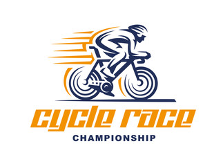 Cycling race Vector logo illustration