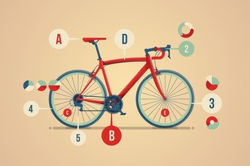bicycle info graphuc
