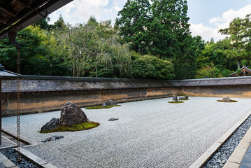 Rock garden at Ryoanji Temple in Kyoto, Japan