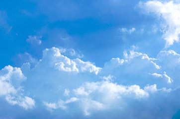 Fluffy cloud and blue sky Fototapete