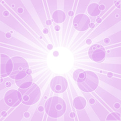 abstract vector background with bubbles in pink color.