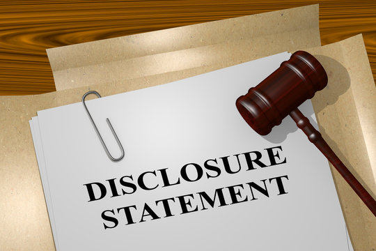 Disclosure Statement - legal concept
