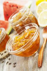 Watermelon jam with lemon