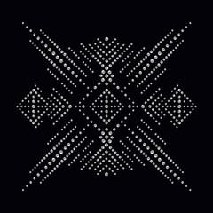 Rhinestone applique print for textile clothes in fashion luxury