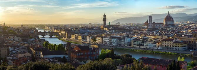 View of Florence after sunset from Piazzale Michelangelo