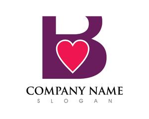 B Letter Love Logo