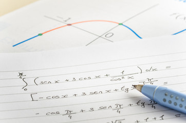 Integral Calculus. A Graph is in Background