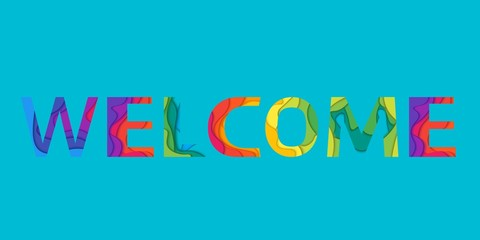 The word Welcome.