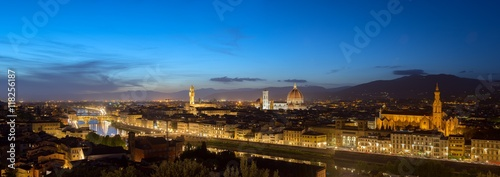 """Italian Florence: """"View Of Florence After Sunset From Piazzale Michelangelo"""