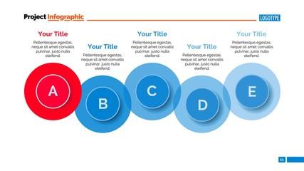 Five Steps Diagram Slide Template
