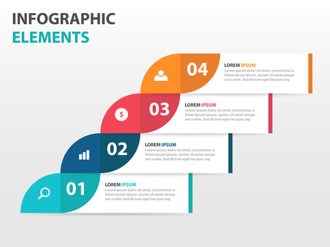Abstract circle light bulb business Infographics elements, presentation template flat design vector illustration for web design marketing advertising