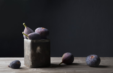 Figs in jar on countertop