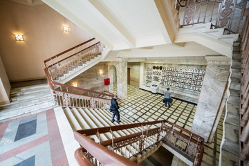 Large stairs in the Moscow State Technical University by Bauman.
