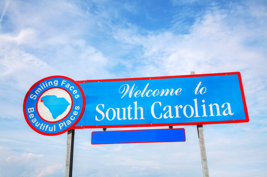 Welcome to South Carolina sign