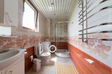 Interior bathroom of a hotel room in El Paraiso hotel