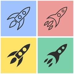 Rocket icon set.