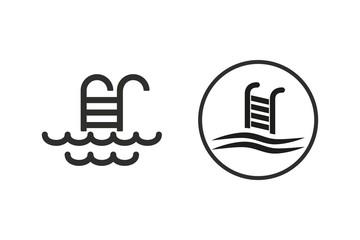Pool - vector icon.