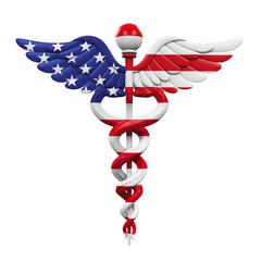 Caduceus American Flag