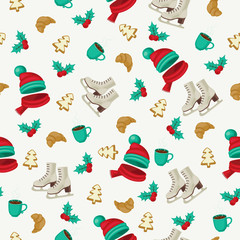 Seamless winter holidays wallpaper
