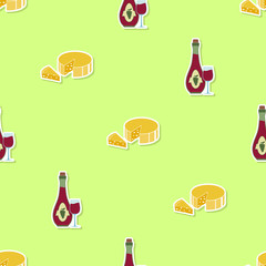 Seamless pattern with  wine icons for your design