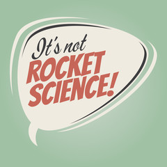 it's not rocket science retro cartoon balloon