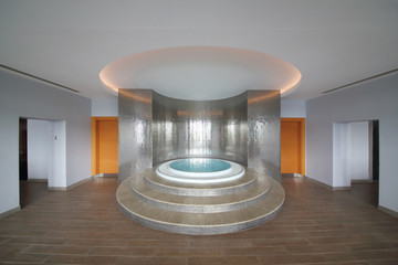 The room with a round whirlpool in the center in Hotel Radisson Blu Paradise Resort and Spa