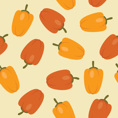 Peppers seamless pattern