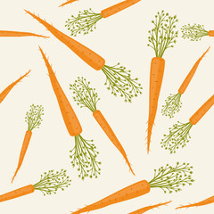 Carrots seamless pattern