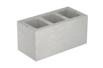 Concrete masonry unit, 3D rendering