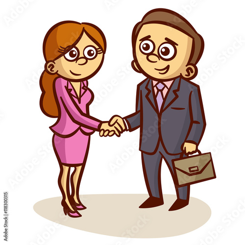 """""""Business Partners Shaking Hands"""" Stock image and royalty ..."""