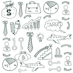 Doodle of image business vector art