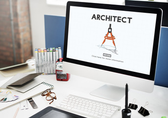 Architect Architecture Design Infrastructure Construction Concep
