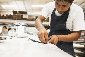 Man working in manufacturing plant