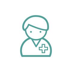 nurse icon sign