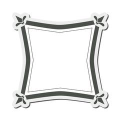 flat design angular vintage frame icon vector illustration