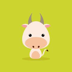 Cute Cartoon Wild cow