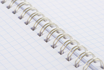 Open Spiral Notebook blank paper