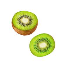 Isolated illustration of kiwi fruit