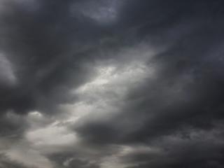 Dark cloud in the rain season