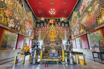 Interior of Wat Chong Lom, Samut Sakhon, Thailand