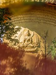 golden buddha carving