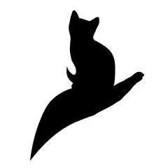 Vector cat logo.