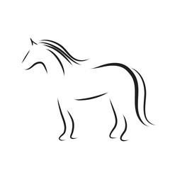 Vector horse logo.